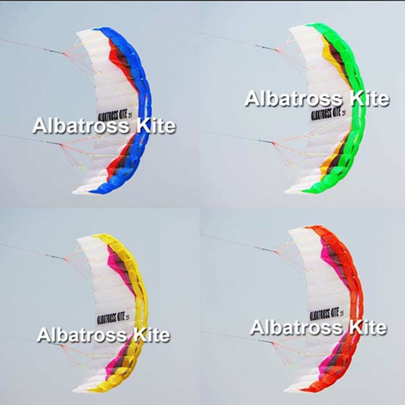 free shipping large power soft kite with control bar dual line kitesurfing albatross kite factory weifang kite parafoil 2.6m кошелек albatross