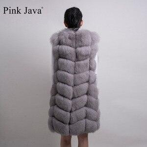Image 4 - الوردي جافا QC8032 النساء معطف الشتاء الفاخرة الفراء سترة ريال فوكس الفراء سترة طويلة سترة الطبيعية الثعلب جيليه رائجة البيع جودة عالية