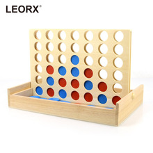 Four in A Row Wooden Bingo Game Toy Line Up 4 Classic Family Board Fun Educational Toy for Kids Children Boys Girls Gifts