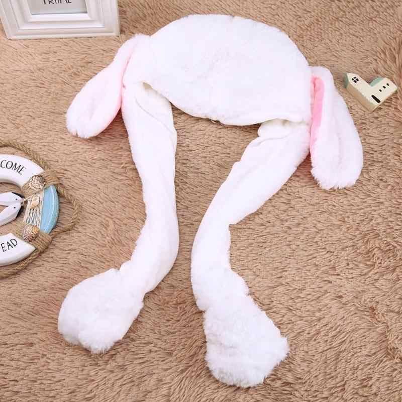 Смешные плюшевые игрушки движущиеся уши шапка в форме кролика пинчинг ухо будет двигаться вертикальные уши Кепка дети Девушки вечерние сценическое представление прекрасный подарок