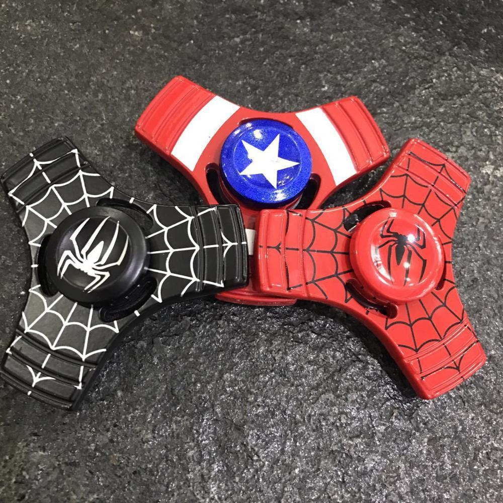 Spiderman Captain Amercian Design Metal Hand Fidget Spinners 200pcs DHL CE Approval Kids Adult Finger Toys
