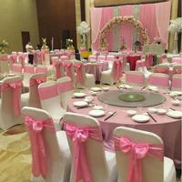 Hot Sale 25 Pcs 1 Set Wedding Chair Cover Sash Bow Tie Ribbon Decoration Wedding Party