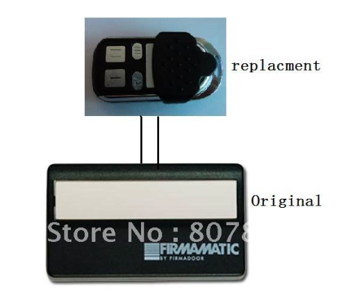 Firmamatic replacement remote , 433MHZ. rolling code, 100% compatible. normstahl t433 4 compatible replacement remote control 433 92mhz rolling code