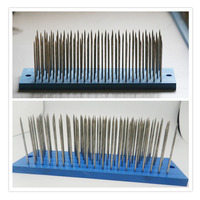 White Hair Hackle With 93 Pcs Needle For Comb Machine Weft Small Steel Comb