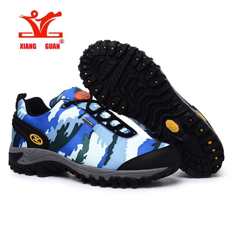ФОТО XIANGGUAN Brand Man Women  Camouflage Waterproof Canvas Slip Hiking Shoes Durable Climbing Shoes Comfort Durable Shoes