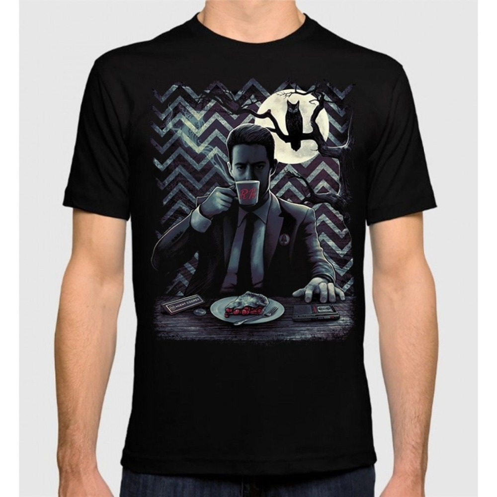 2018 Summer Style Twin Peaks Agent Cooper T-Shirt David Lynch 100% Cotton New Dale Cooper Tee Hot Sale Casual Clothing