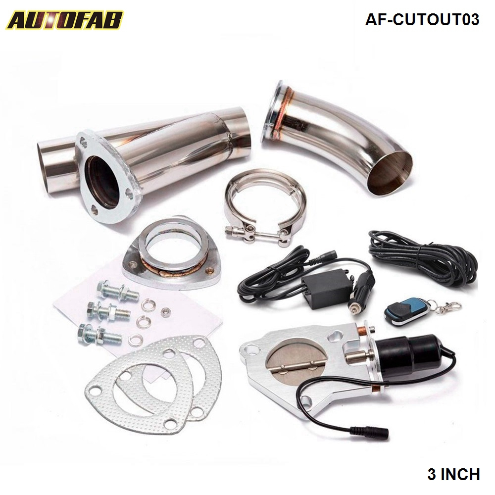 3 INCH EXHAUST CUTOUT ELECTRIC DUMP Y PIPE CATBACK CAT BACK TURBO BYPASS STEEL For Honda