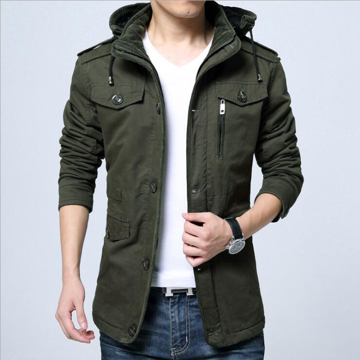 2017 New Winter Plus thick Velvet Coats Cotton Jackets Men Removable Hooded Outwear Parkas Casual Windproof Clothes Male Hot