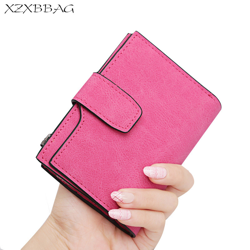 XZXBBAG Fashion Women Long Plaid Wallets 2017 New Design Female Frosted Leather Purse Girl Hasp Money Bag Clutch Handbag XZ056