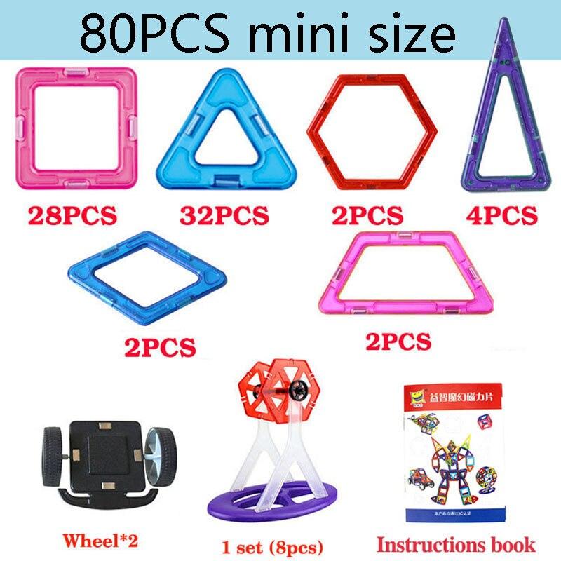 Zhenduo Mini 80pcs Magnetic Blocks Toys Construction Model Magnetic Building Blocks Designer Kids Educational Toys For