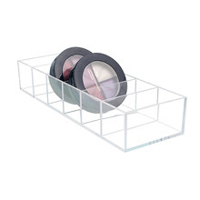 HUNYOO Transparent Clear Acrylic Makeup Organizer Storage Box Case Lipstick Cosmetic Jewelry Brushes Holder Plastic(China)