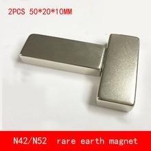 2PCS 50*20*10mm neodymium magnet N42 N52 block magnets 50X20X10MM
