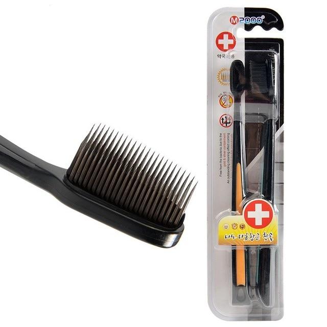 Уголь Nano черного бамбука Зубная щётка 2 шт./упак. путешествия Броссе A вмятин ультра мягкой Зубная щётка Оптовая зуб Кисточки для взрослых