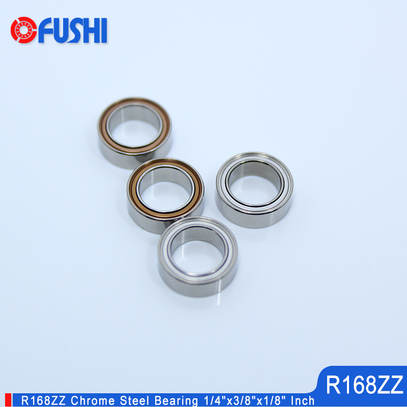 R168ZZ Bearing 10PC 6.35x9.525x3.175mm Double Shielded Motor Miniature R168 Z ZZ Ball Bearings R168Z