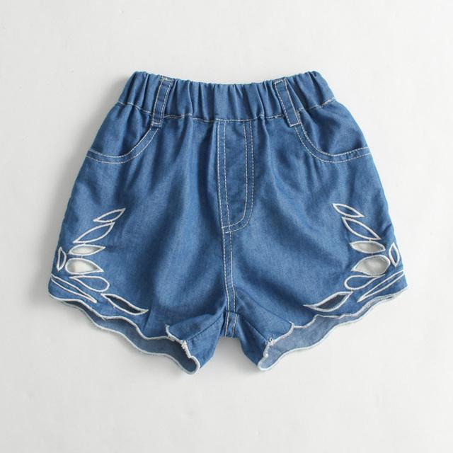 2017 verão moda personalidade calças dos miúdos das crianças meninas shorts jeans bebê shorts infantil shorts
