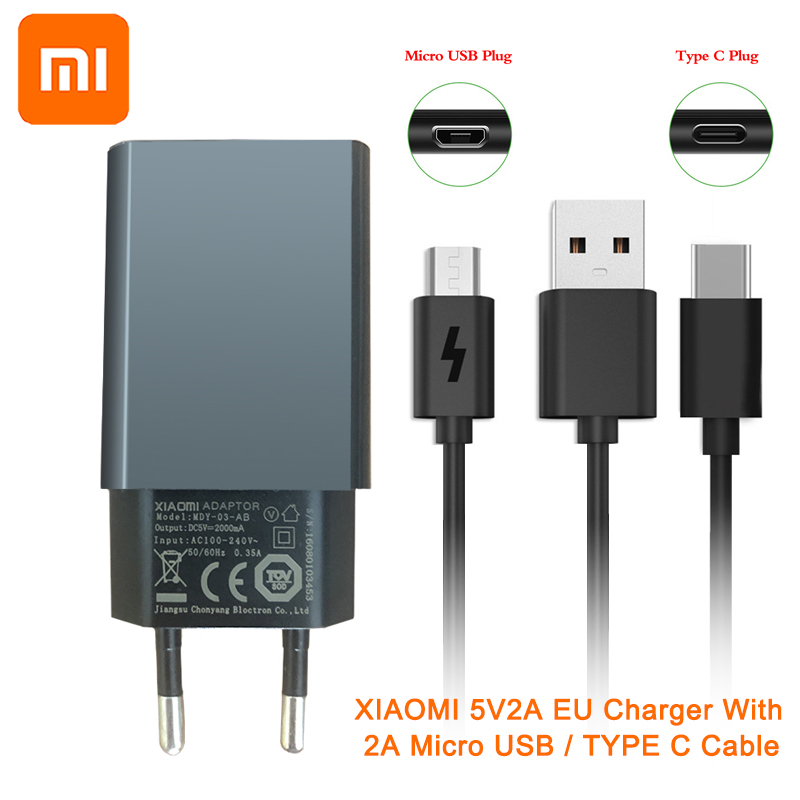 XIAOMI EU Charger Cable-Charging Micro-Usb-Cable 5v2a Type-C Mi-Redmi Lite Note-3 1