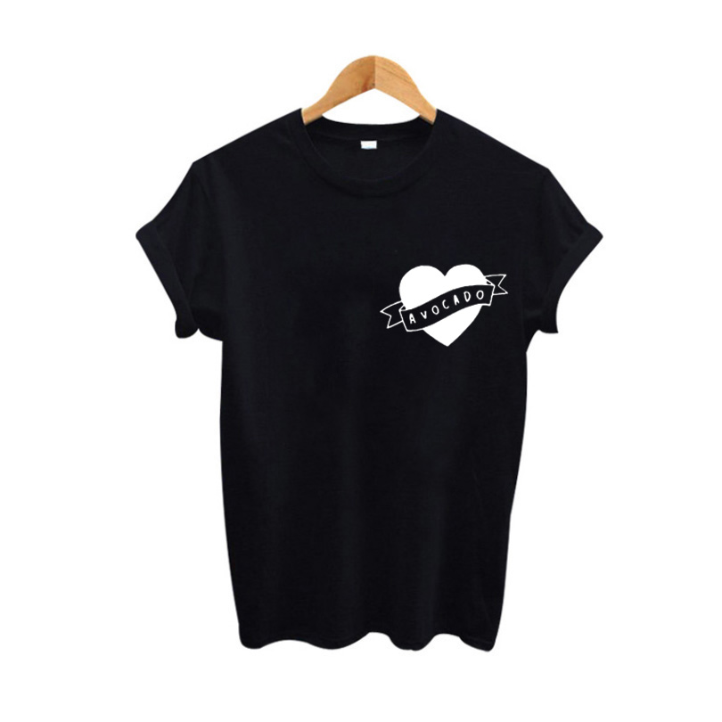 Heart Avocado T-shirt Cute Harajuku Avocado Graphic Tees Funny Tshirt Women Tumblr Hipster T Shirt Avocado lovers Tee Shirt 2017