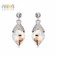 De exclusieve 2017 Belangrijkste Steen Kristallen uit Oostenrijkse kristallen oorbellen voor vrouwen fashion oorbellen groothandel sieraden #110844