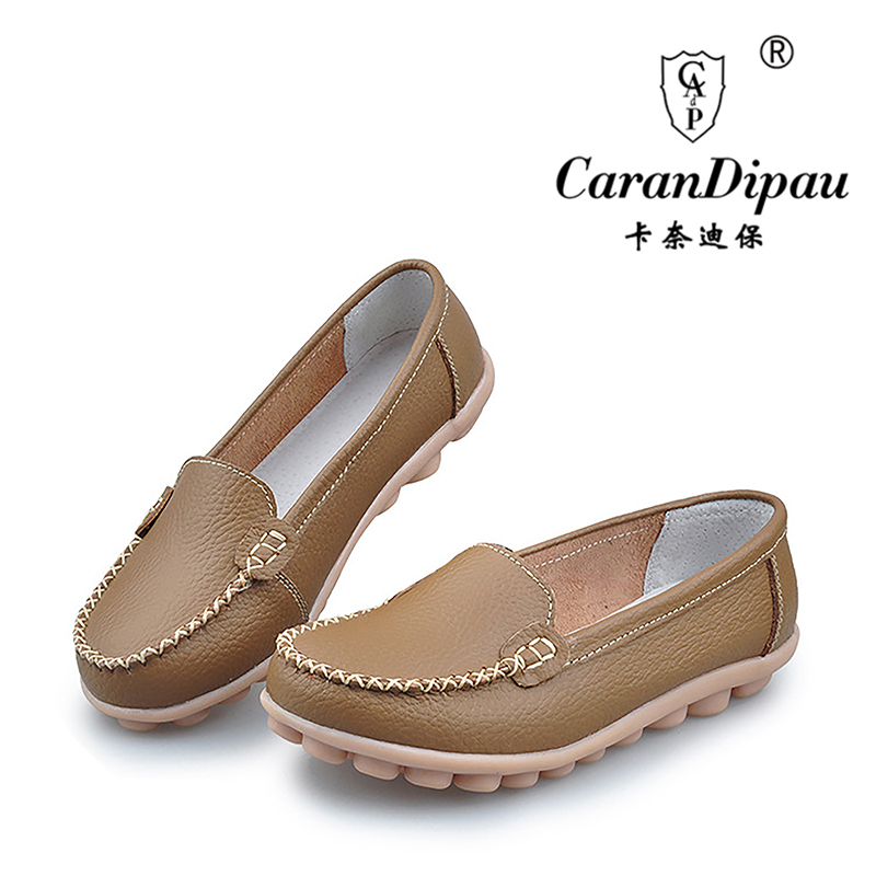 Boat shoes Woman 2016 Genuine Leather Women Shoes Flats 7 Colors Loafers Slip On Women s