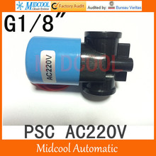 Plastic solenoid valve for drink Water AC220V 1/8″ Nomal close Type 2way 2position