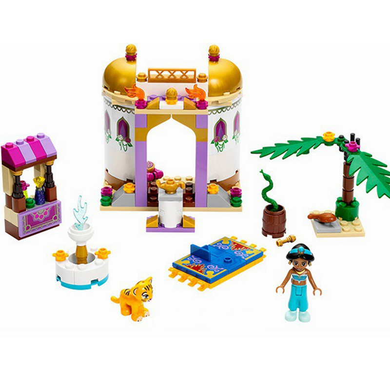 Bela10434 Friend Dream Sleeping Series Aladdin Princess Jasmine Mini Bricks Building Blocks DIY Toys For Girl Compatible