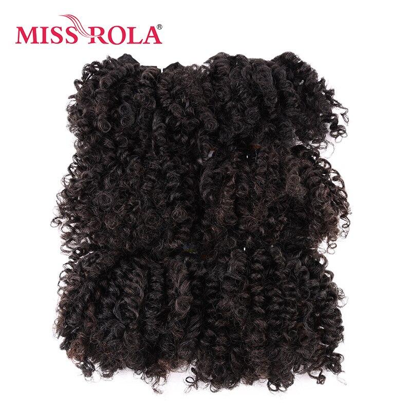 Мисс Рола 6 шт./лот вьющиеся Синтетические пряди для наращивания волос 100 г шить в волос переплетения канекалон волокна двойной утка пучки во...