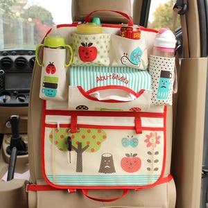 Image 3 - Cute Cartoon Lion Car Organizer Seat Back Storage Bag Hanging Stowing Tidying Baby Kids Travel Universal Auto Multi pocket Bag