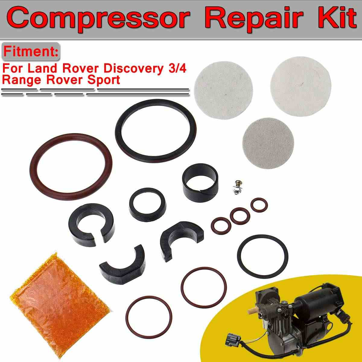 車の空気サスペンション A/C コンプレッサー修理キットランドローバーディスカバリー 3/4 レンジローバースポーツ RQG000017 RQG000018 RQG000019