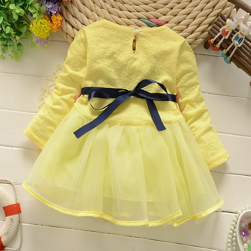 fa42990782a18 2018 winter newborn fancy infant baby dresses girl frocks designs party  wedding with long sleeves jacadi 1 year birthday dresses