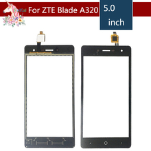 5.0 For ZTE Blade L7 A320 LCD Touch Screen Digitizer Sensor Outer Glass Lens Panel Replacement смартфон zte blade l7 black