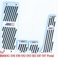 2015 Car auto modified accelerator pedal non slip aluminum+silicone brake pedal for BMW E46 E90 E92 E93 E87 X1 ///M clutch pedal