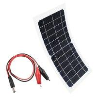 Гибкая портативная солнечная панель 5 в 6 в 10 Вт  зарядное устройство для автомобиля  мотоцикла  лодки  панели солнечных батарей  разъем с заж...