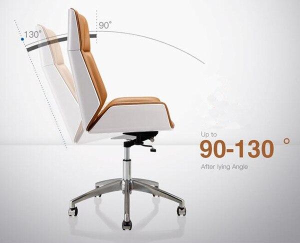 Sedie Schienale Alto Legno : Reclning schienale alto in legno curvato sedia del computer sedia
