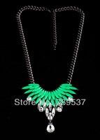 Xl00460 Fair Trade Black Gun Korean Girls S Necklaces For Sale Green Yellow Red
