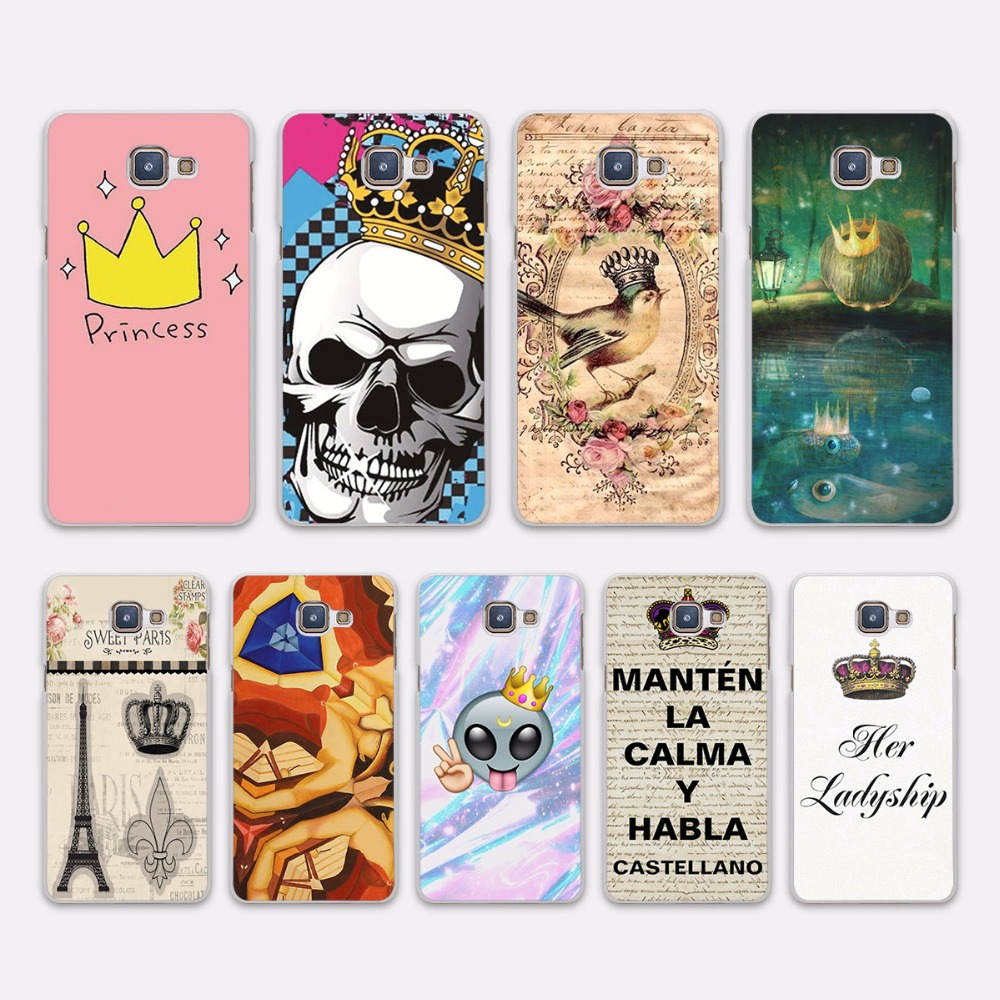 Pu leather case for samsung galaxy a7 2016 a710 peacock feather - Luxury King And Queen Crowns Princess Design Hard White Case Cover For Samsung Galaxy A5 2016