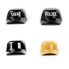 Mini Building Blocks Military Police Caps City Accessories SWAT Hat Soldiers Helmet Figure Bricks Army DIY Toys C036
