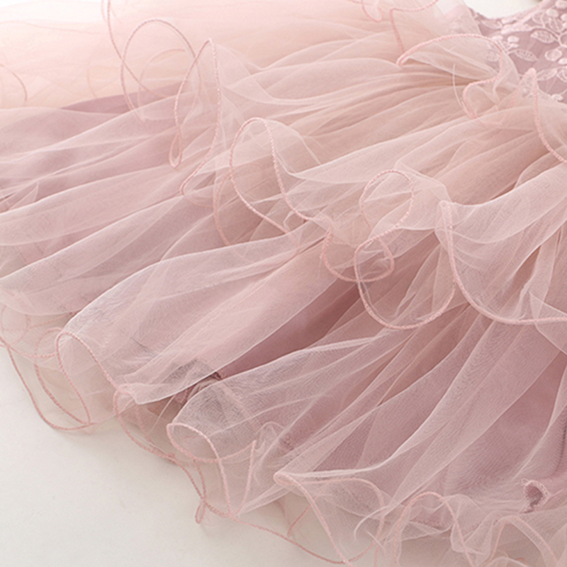 HTB14oksbiHrK1Rjy0Flq6AsaFXar Lace Little Princess Dresses Summer Solid Sleeveless Tulle Tutu Dresses For Girls 2 3 4 5 6 Years Clothes Party Pageant Vestidos