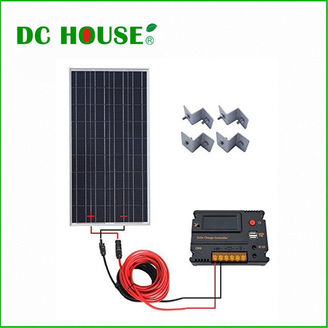 Usa Uk Stock 100w Solar Panel Off Grid Kit W Systerm 20a