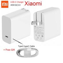 Оригинальное зарядное устройство Xiaomi 45W Mi 65w USB C выходная скорость розетка адаптер питания Type C порт USB PD 2,0 Быстрая зарядка QC 3,0 + Type C