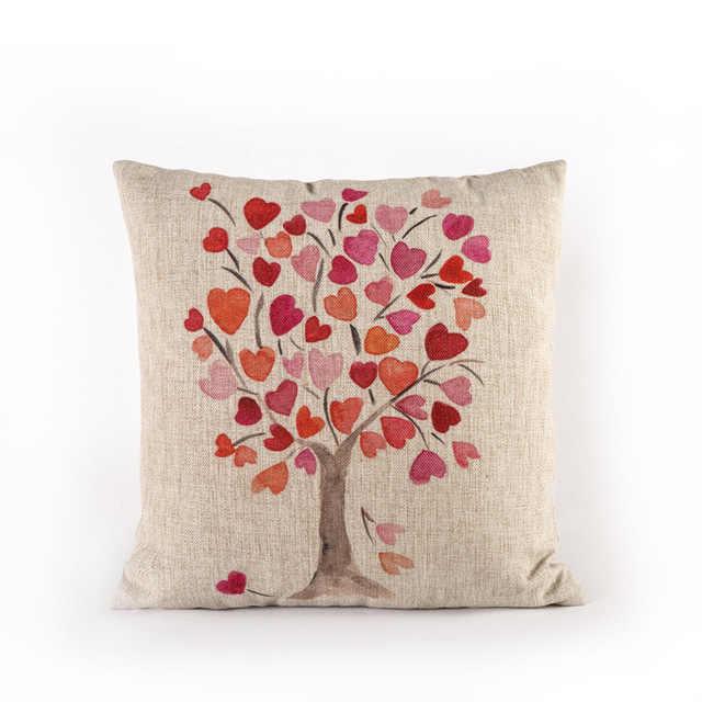 Gorąca sprzedaż kwiat/kolorowe drzewa/kwiatowy nadruk poduszka na sofę poduszka na kanapę/dom (bez wypełnienia)