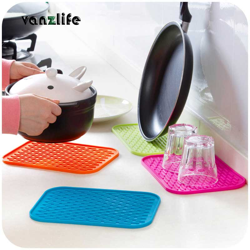 Kitchen Europe anti-hot heat pad table pad pot large thick waterproof non-slip mat coasters for bowl and cups