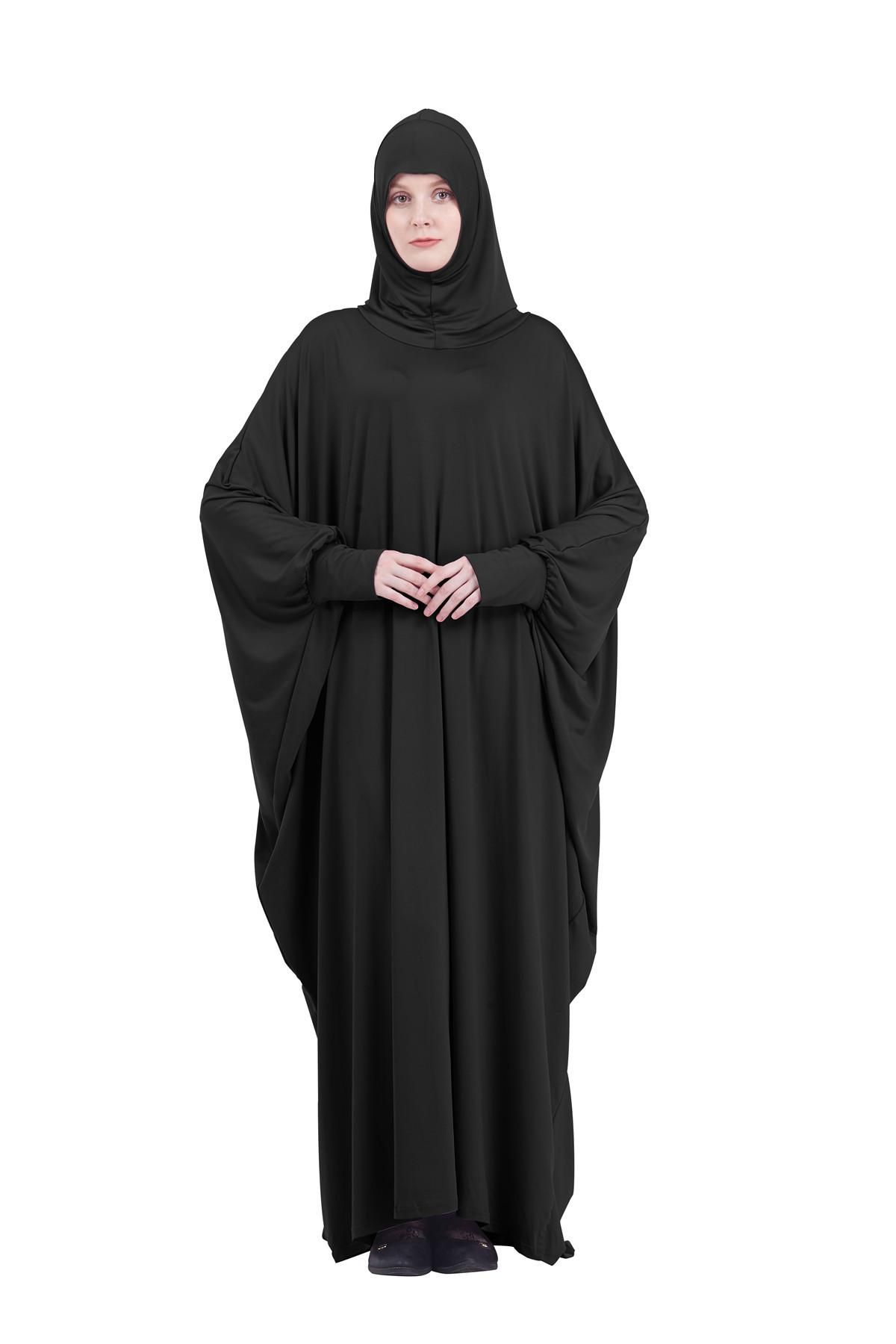 Image 3 - Abaya Kaftan Jilbab Full Cover Prayer Garment Hijab Long Maxi  Dress Overhead Muslim Robe Gown Solid Color Loose Dresses  FashionIslamic Clothing