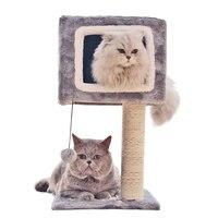 Pet Scratchers Cat Climbing Rack With Hammock Ball Detachable Cats Jumping Platform Scratching Play Sleeping Furniture Supplies