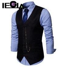 Мужской жилет, тонкий жилет, куртка без рукавов, повседневный костюм, жилеты для мужчин, на пуговицах, открытый, простой, Джокер, подходящий жилет для мужчин