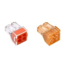 цена на 10PCS PCT-104 773-104 4PIN Push-in wire connector for junction box 4 pin conductor wago terminal block set Transparent