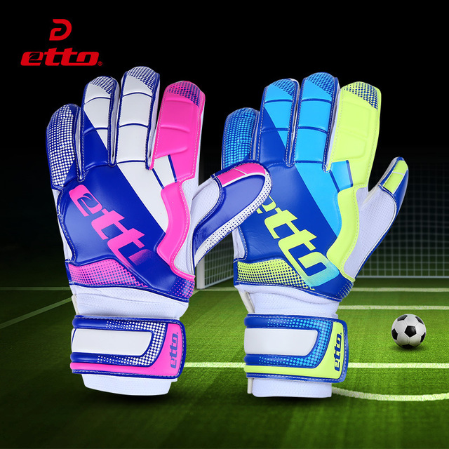 Etto Quality Men Women Goalie Gloves Palm Thickened Latex Back Durable Pvc  Goalkeeper Gloves For Soccer Football Training HSG419 177b710c7