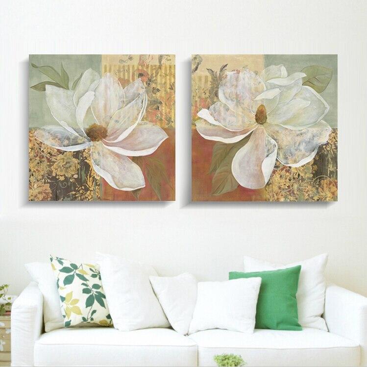 ᐅFlores en plena floración arte de la pared flor pintura cuadros de ...