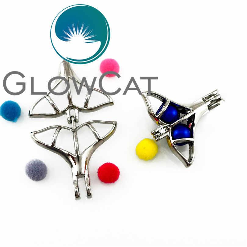 1X 24 stile Perline D'argento Gabbia Dream Catcher Unicorno Cigno Cucciolo di Cane Profumo Diffusore di Pietra Gabbia di Perle Del Pendente Del Locket Pendenti e Ciondoli