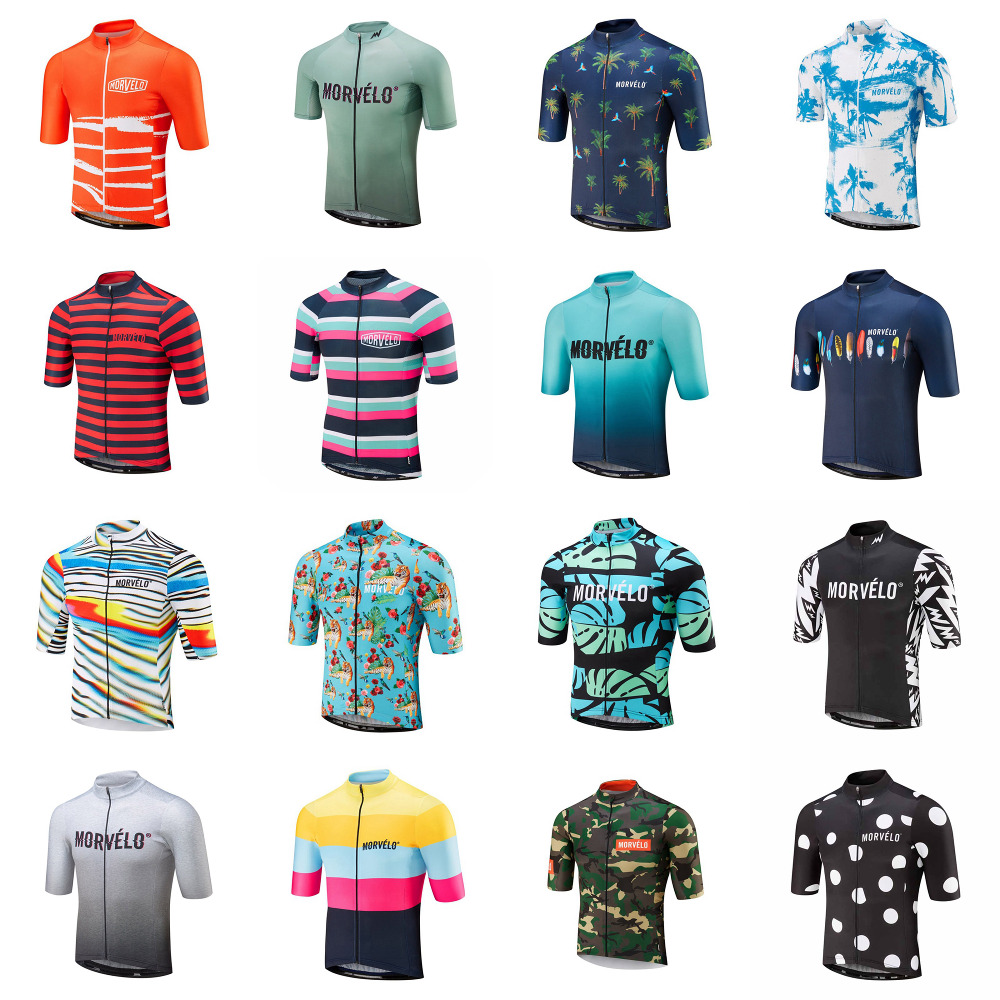 2019 Morvelo Cycling Jersey Short Sleeve Men Racing Mountain Maillot Bicycle Clothes U51053