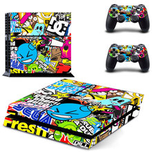 Colorful Decals Vinly PS4 Skin Cover Sticker Cover for Sony PS4 PlayStation 4 and 2 controller skins